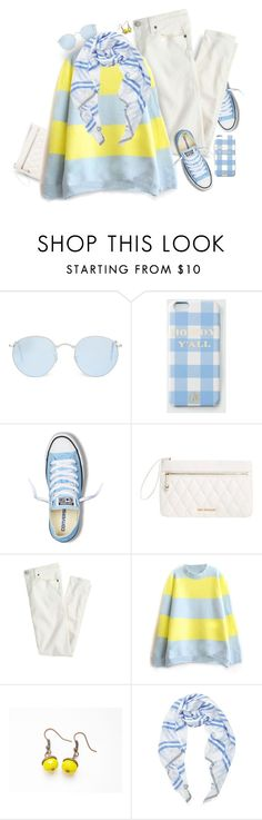 """""""Lemon + Baby Blue."""" by s-elle ❤ liked on Polyvore featuring Ray-Ban, Draper James, Converse, Vera Bradley, J.Crew, Lemlem, women's clothing, women, female and woman"""