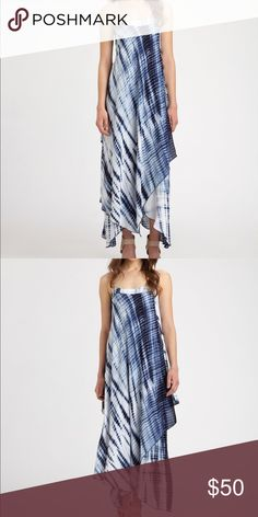 MK Midnight Tiedye Asymmetrical Maxi Dress S Positively pretty, a tie-dye dress with a romantic handkerchief hem. Square neck. Spaghetti straps. Allover print. Handkerchief hem. Never been worn. MICHAEL Michael Kors Dresses Maxi