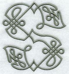 Machine Embroidery Designs at Embroidery Library! - Celtic Knotwork Alphabet