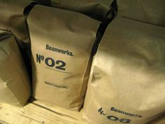 Beanworks coffee packaged inside individually stamped bags