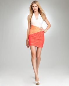 Colorblock halter dress.  Nice for Kentucky Derby.