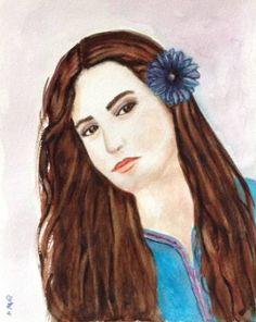 "Saatchi Art Artist Mar Ruiz Bilbao Art; Painting, ""Pretty Woman"" #art"