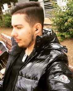 daunenjacke down jacket downjacket shiny fetish moncler