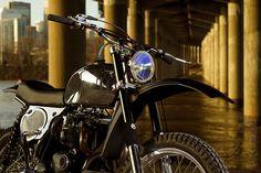 Triumph based dirt bike by Atom BOmb customs.