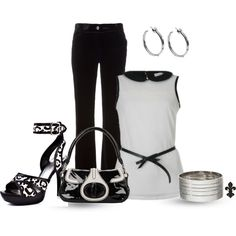 """""""Black and White"""" by hatsgaloore on Polyvore"""