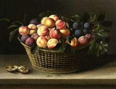 Louise Moillon, 'Still Life with Fruit on a Table' 17th century.