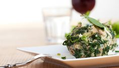 Gefüllte Spinatknödel #vegetarian #recipe #spinach #dumpling #veggie