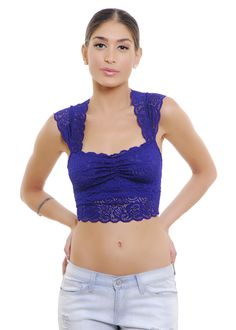 Ally Lace Crop Top | Shop for it on www.flavour86.com