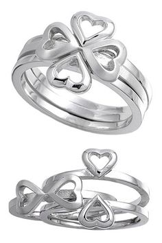 925 Sterling Silver Four Hearts Clover Ring – Size 6 | Your #1 Source for Jewelry and Accessories