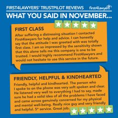 A couple of our favourite Trust Pilot reviews from November: