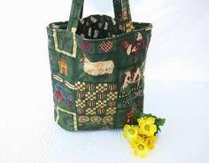 Tote Bag  Grocery Bag  Reusable cloth bag by WeaversHomestead, $23.00