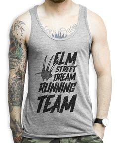 It's that time of season, and if you're on Elm Street then you better join the running team because if you don't then you're dead. Show some horror love at the gym with this Nightmare on Elm Street shirt.