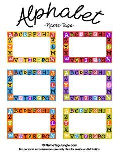 Alphabet Name Tags