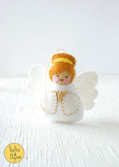 PDF Pattern - Little Angel, Felt Ornament Pattern, Felt Softie Pattern, Angel Sewing Pattern