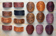 Leather hair barrettes by ~Eclectixx on deviantART