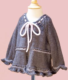 Free Knitting Pattern - Baby Sweaters: Baby Coco Ruffly Sweater