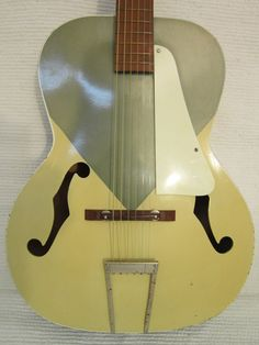 "1950s two-tone Silvertone acoustic guitar ""Kentucky Blue"""