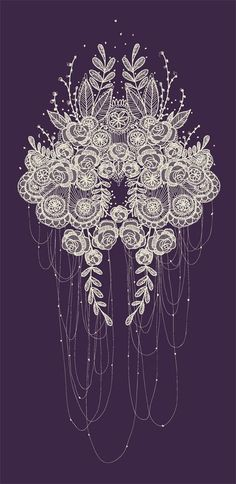 A little bit old fashioned, but def pretty Prints always get me. --Lace and Roses This would be amazing as a sternum place