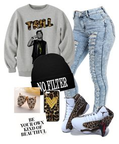 """Always been trill never fake"" by trillambition136 ❤ liked on Polyvore featuring NIKE, Wildflower and Fit-to-Kill"