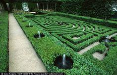 pretty hedge garden