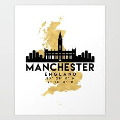 Shop for Noir Gallery Minimal Manchester Skyline Unframed Art Print/Poster. Get free delivery On EVERYTHING* Overstock - Your Online Art Gallery Store! Manchester England, Manchester Art, Manchester United Gifts, Map Canvas, Canvas Wall Art, Liverpool Skyline, Framed Art Prints, Poster Prints, Manchester City Centre