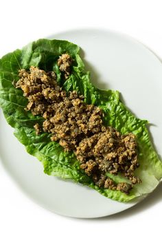 Lettuce wraps! A nice change from a salad 😉