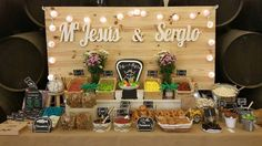 Letrero decorativo para mesa dulce y salada boda.  Wedding decorative letters