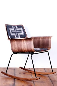 The Update: Pendleton upholstery and walnut bentwood on a rocking chair has that luxe, salt-of-the-earth appeal. Everything you could possibly want in a rocker.