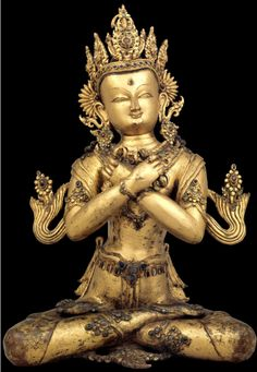 Vajradhara - The Primordial Buddha Nepal; century - Gilt copper alloy Rubin Museum of Art: Buddha Life, Buddha Buddhism, Tibetan Buddhism, Buddhist Art, Nepal Art, Religion, Tibetan Art, Nataraja, Bhutan
