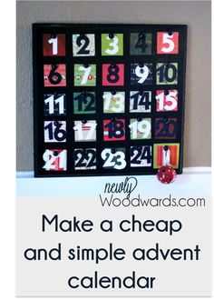 Using paper, a slice of wood and decoupage - make this fun advent for Christmas!