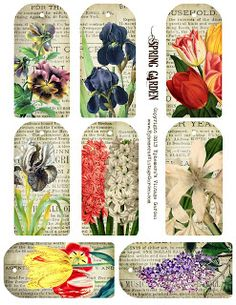 Ephemeras Vintage Garden: Free Printable - Spring Garden Tags