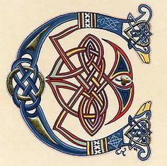 Letter C. Book of kells