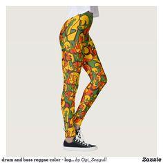 Shop drum and bass reggae color - logo, graffiti, sign leggings created by Ogi_Seagull. Reggae, Drum, Bass, Graffiti, Pattern, Color, Design, Women, Fashion