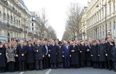 Orthodox Jewish newspaper photoshops out female world leaders at Charlie Hebdo march. (Oh yeah, there's no sexism quite like religious sexism. Bastards.)  |via`tko WWJTD @ Patheos