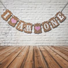 I AM ONE Bunting Garland Banner Baby Girl First Birthday Party Decoration   eBay