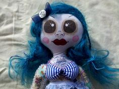 Ariel the Tattooed Sailor Girl doll. 100% hand sewn and hand painted by Love Nicole Stitchery.