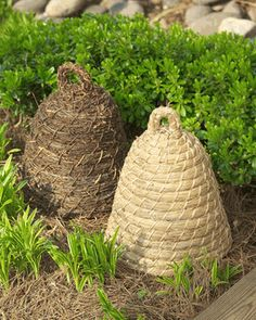 Natural Bee Skep.  For display at the store.