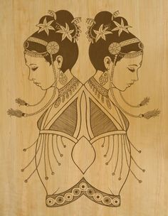 Mirrored Dancers print