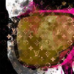 NO.849 A1 ポスターフレームセット ルシアン ペラフィネ スカル モチーフ Lucien pellat-finet skull パロディアート セレブ インテリア ポップアート オマージュアート ブランドオマージュ | MakeSenseLLC