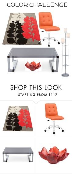 """""""Untitled #29"""" by maria93-bb ❤ liked on Polyvore featuring interior, interiors, interior design, home, home decor, interior decorating, Interlude, Daum, Lite Source and colorchallenge"""