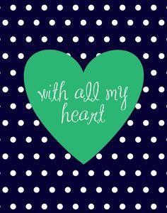 With All My Heart 8x10 print, Sweet Tea & Sparkles