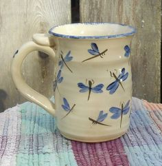 Handmade pottery coffee cup 12 oz Ceramic by TallPinesPottery