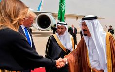 Melania and Ivanka Trump both arrived in Saudi Arabia on Saturday without their heads covered - two years after Donald Trump criticised Michelle Obama for doing the same thing.