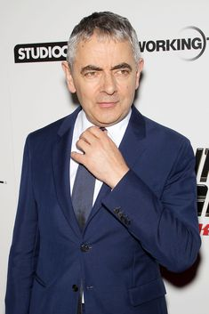 Rowan Atkinson attends the New York City Premiere of Johnny English Strikes Again ahead of the film's US release on Friday October. Johnny English, Mr Bean, Strikes Again, Thin Blue Lines, Rowan, Love Him, Suit Jacket, Film, October