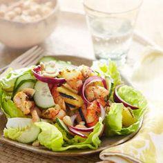 Hawaiian Grilled-Shrimp Salad
