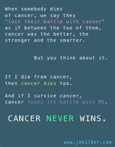 CANCER NEVER WINS