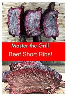 Beef Short Ribs Texas Style It's crazy how easy it is to make these Texas Style Beef Ribs!It's crazy how easy it is to make these Texas Style Beef Ribs! Grilled Beef Short Ribs, Smoked Beef Short Ribs, Bbq Short Ribs, Smoked Meat Recipes, Rib Recipes, Venison Recipes, Sausage Recipes, Yummy Recipes, Ribs On Grill