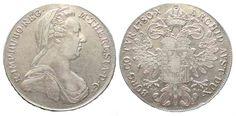 1780 Haus Habsburg AUSTRIA Thaler 1780 IC-FA Vienna (1790-1805) MARIA THERESA silver aXF # 42052 aEF