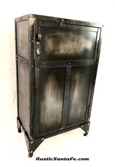 liquor cabinet, wine rack, rustic cabinet, industrial liquor ...