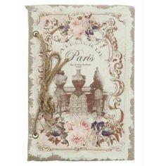 Notizbuch Fotoalbum Paris 15 x 21 cm Clayre & Eef 6PA0404